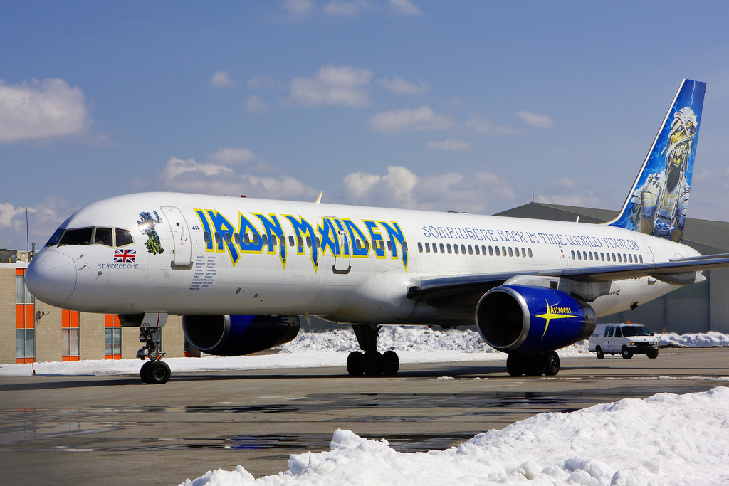 Avión privado de Iron Maiden