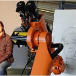 """El """"robot artista"""" que puede dibujar rostros"""