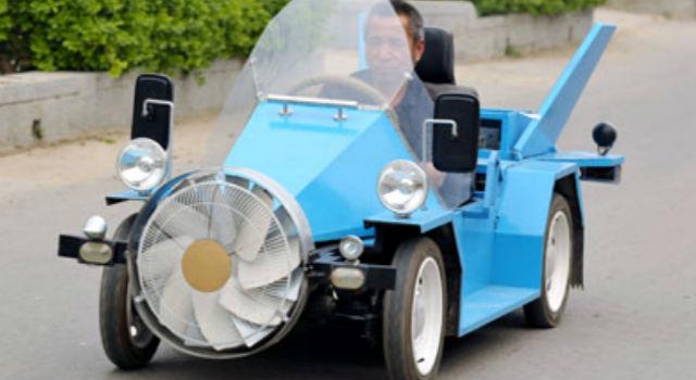 Carro eólico chino