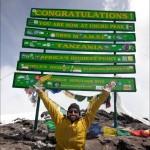 West en la cima del Kilimanjaro