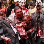 Se disfraza de zombie y su novia le dispara del susto