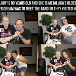 Una mujer de 90 años cumple uno de sus sueños…..conocer a Metallica
